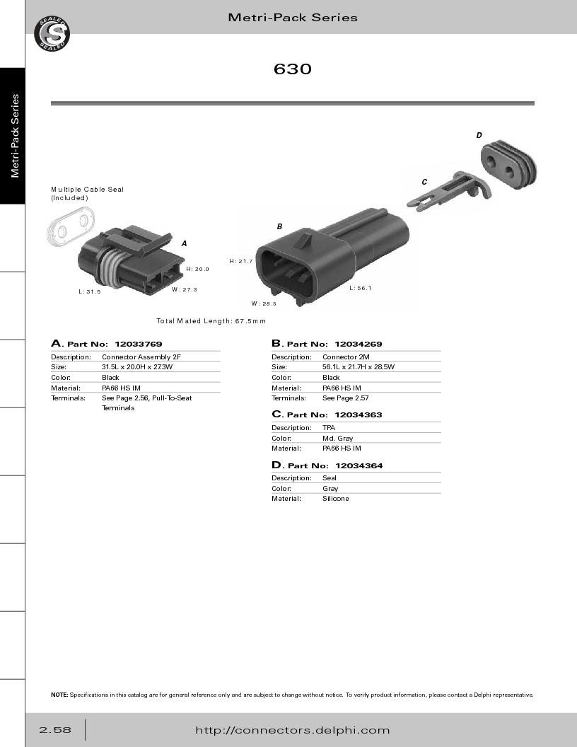 12014254 ,Delphi Connection Systems厂商,Automotive Connectors HAND CRIMPER, 12014254 datasheet预览  第114页