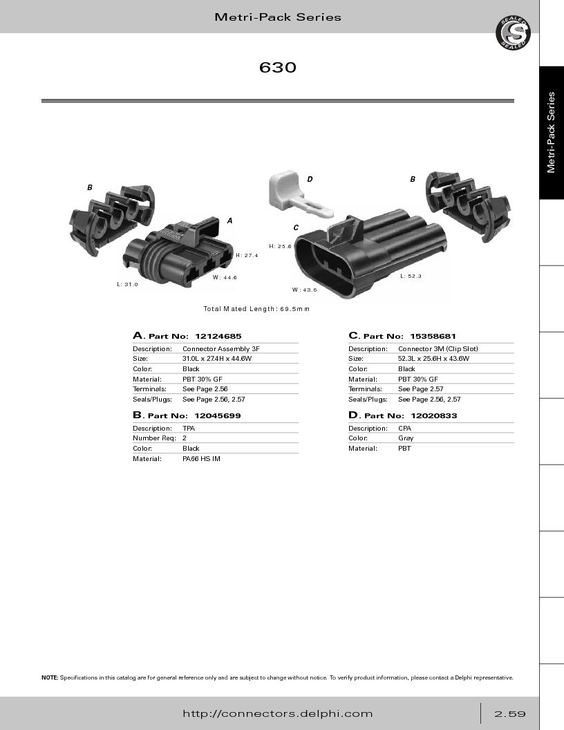 12014254 ,Delphi Connection Systems厂商,Automotive Connectors HAND CRIMPER, 12014254 datasheet预览  第115页