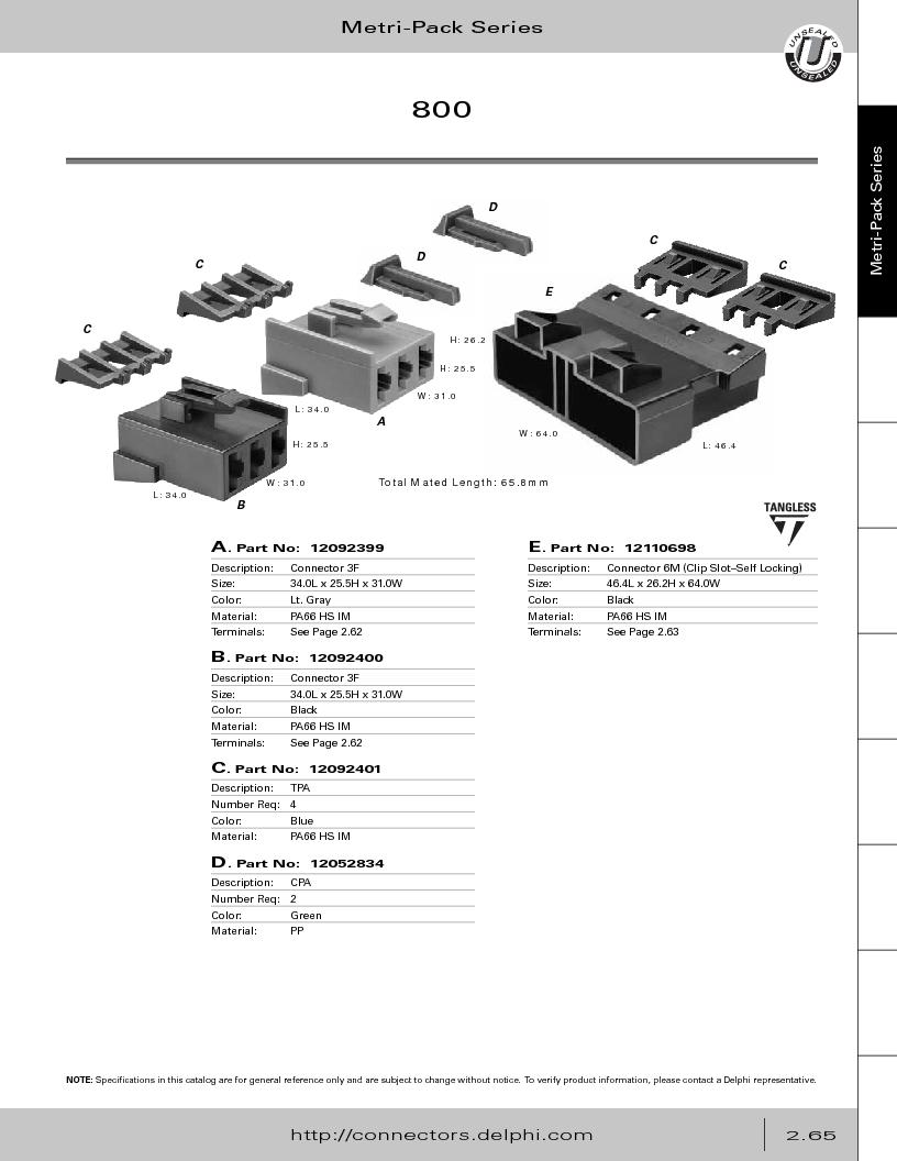 12014254 ,Delphi Connection Systems厂商,Automotive Connectors HAND CRIMPER, 12014254 datasheet预览  第121页