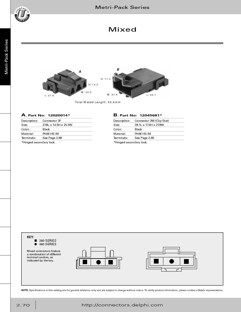 12014254 ,Delphi Connection Systems厂商,Automotive Connectors HAND CRIMPER, 12014254 datasheet预览  第126页