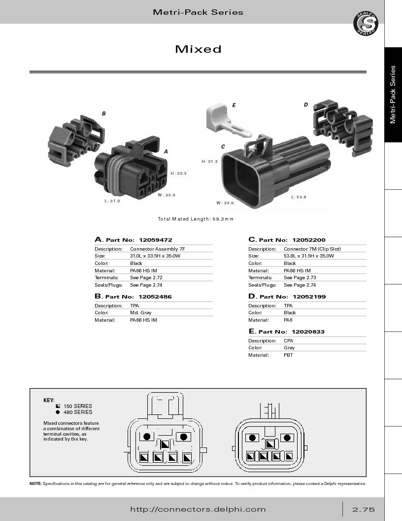 12014254 ,Delphi Connection Systems厂商,Automotive Connectors HAND CRIMPER, 12014254 datasheet预览  第131页
