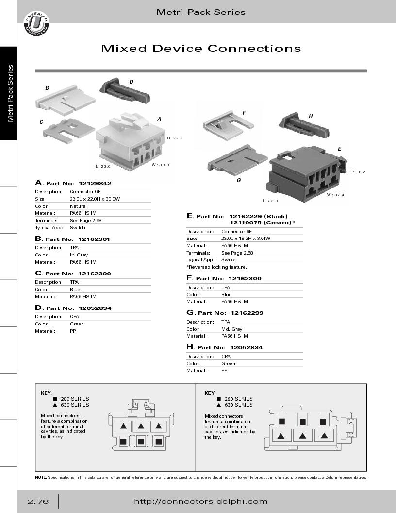 12014254 ,Delphi Connection Systems厂商,Automotive Connectors HAND CRIMPER, 12014254 datasheet预览  第132页
