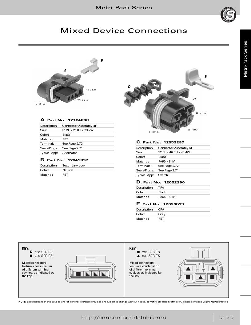 12014254 ,Delphi Connection Systems厂商,Automotive Connectors HAND CRIMPER, 12014254 datasheet预览  第133页