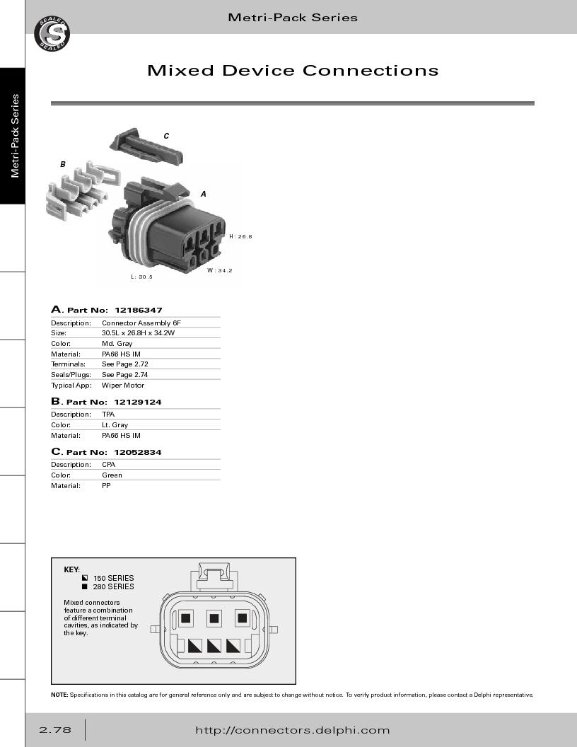 12014254 ,Delphi Connection Systems厂商,Automotive Connectors HAND CRIMPER, 12014254 datasheet预览  第134页