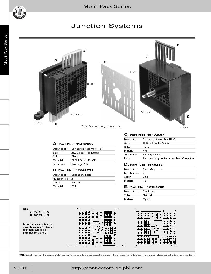 12014254 ,Delphi Connection Systems厂商,Automotive Connectors HAND CRIMPER, 12014254 datasheet预览  第142页