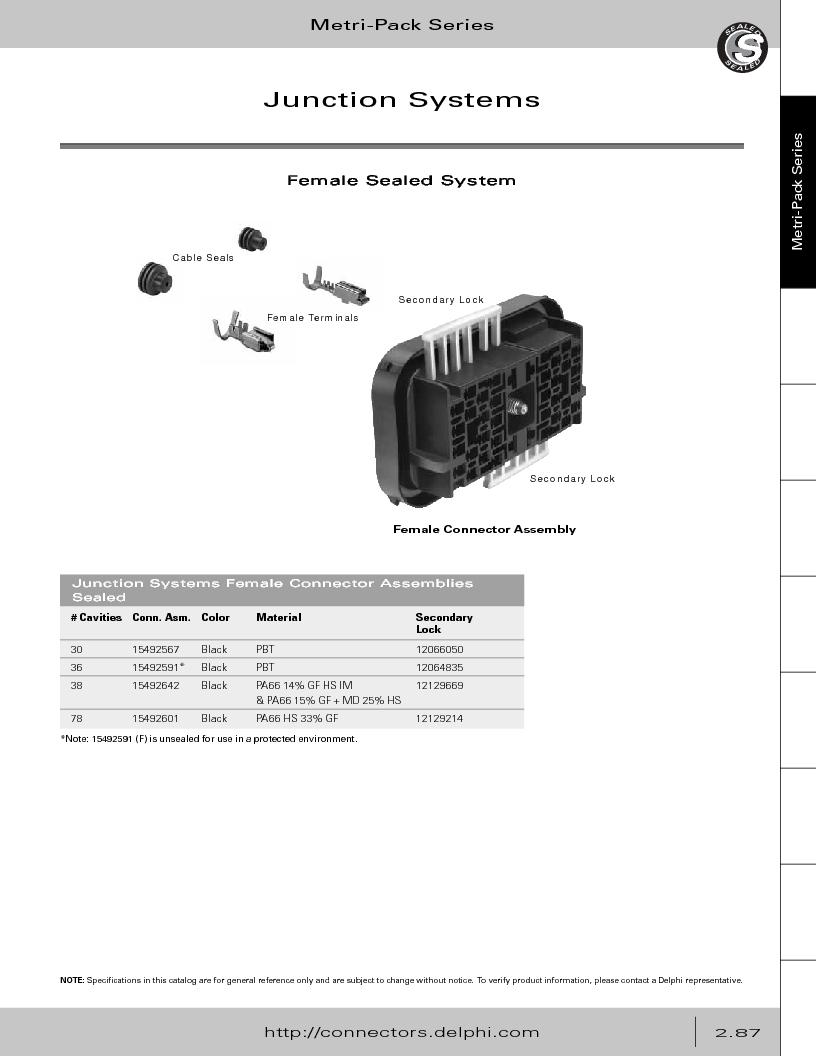 12014254 ,Delphi Connection Systems厂商,Automotive Connectors HAND CRIMPER, 12014254 datasheet预览  第143页