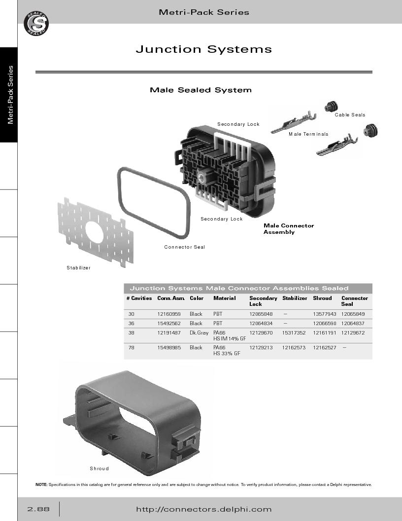 12014254 ,Delphi Connection Systems厂商,Automotive Connectors HAND CRIMPER, 12014254 datasheet预览  第144页