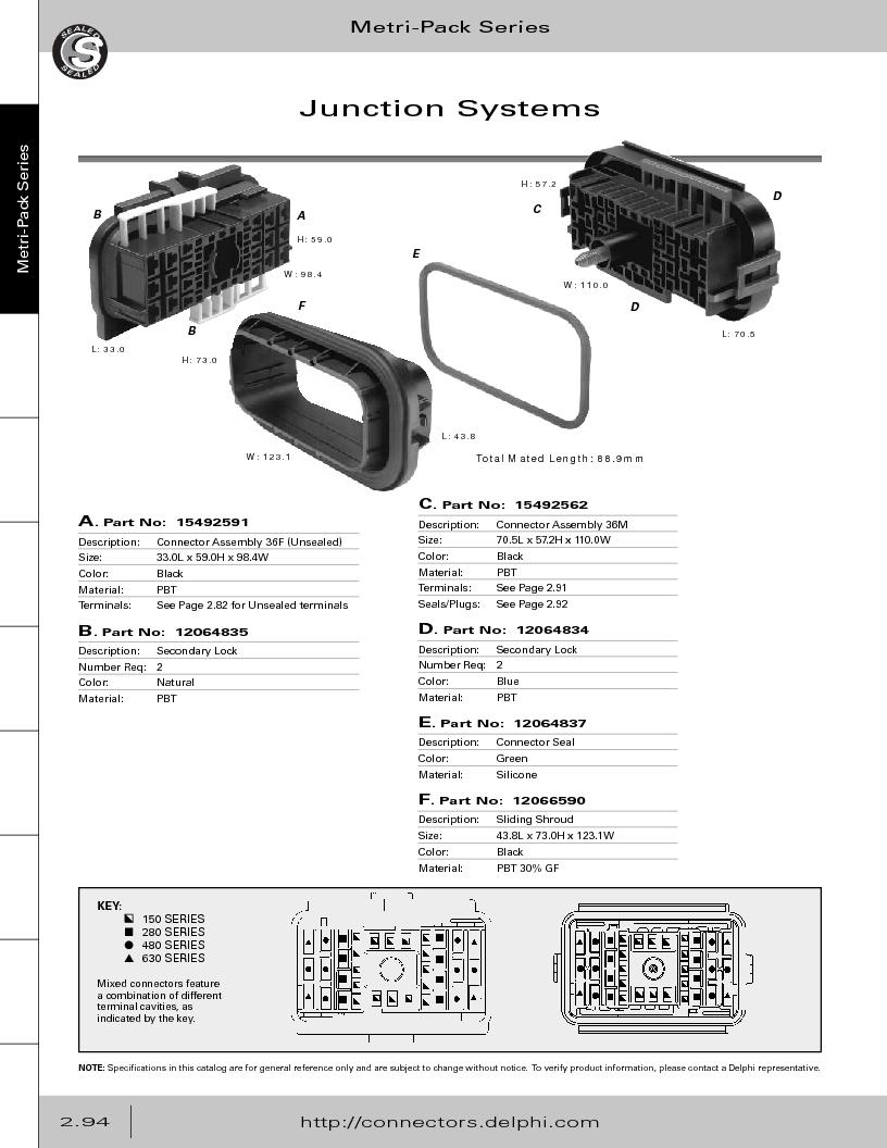 12014254 ,Delphi Connection Systems厂商,Automotive Connectors HAND CRIMPER, 12014254 datasheet预览  第150页