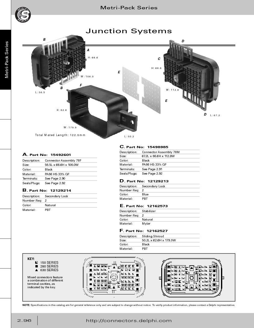 12014254 ,Delphi Connection Systems厂商,Automotive Connectors HAND CRIMPER, 12014254 datasheet预览  第152页