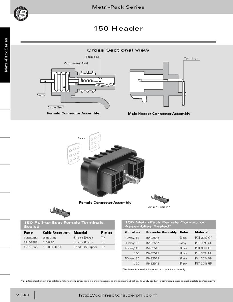12014254 ,Delphi Connection Systems厂商,Automotive Connectors HAND CRIMPER, 12014254 datasheet预览  第154页
