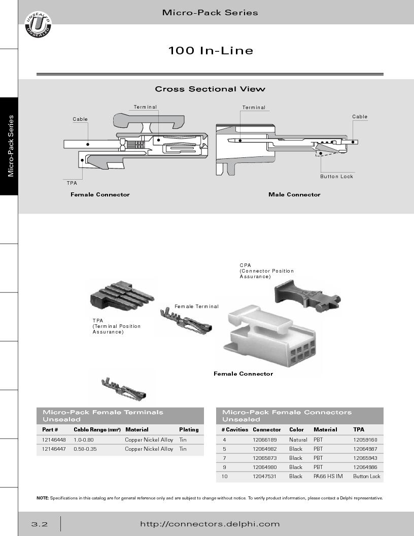 12014254 ,Delphi Connection Systems厂商,Automotive Connectors HAND CRIMPER, 12014254 datasheet预览  第164页