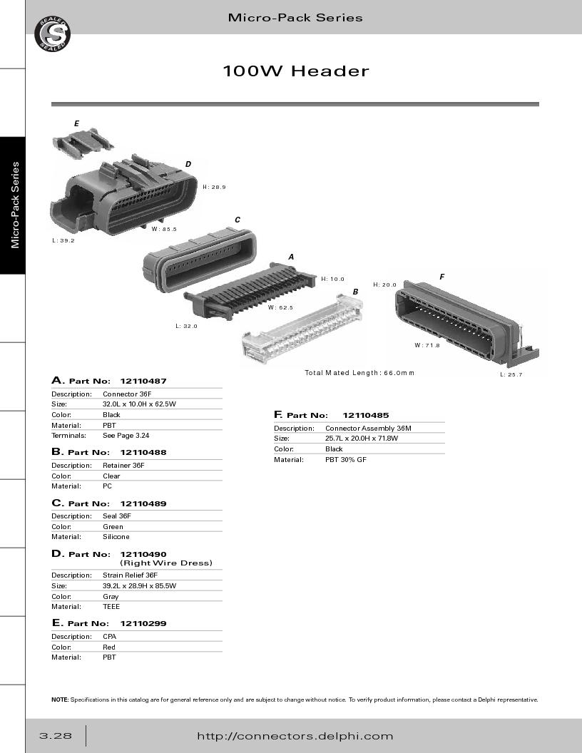 12014254 ,Delphi Connection Systems厂商,Automotive Connectors HAND CRIMPER, 12014254 datasheet预览  第190页