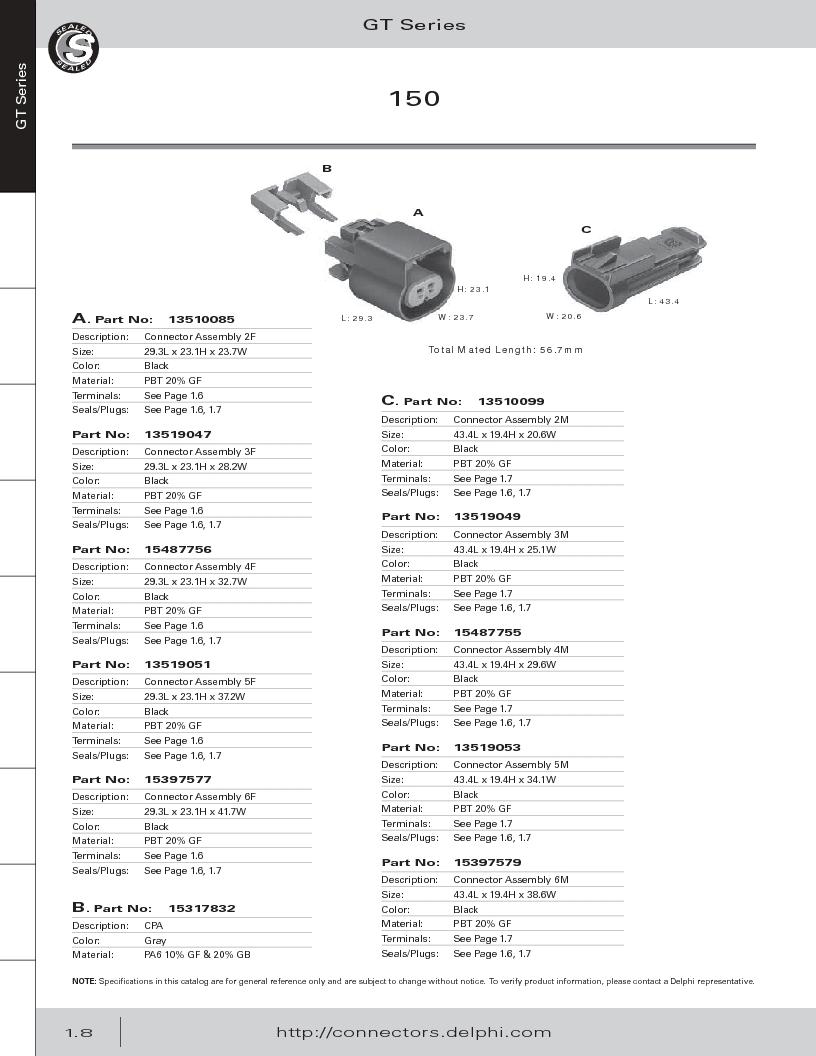 12014254 ,Delphi Connection Systems厂商,Automotive Connectors HAND CRIMPER, 12014254 datasheet预览  第20页
