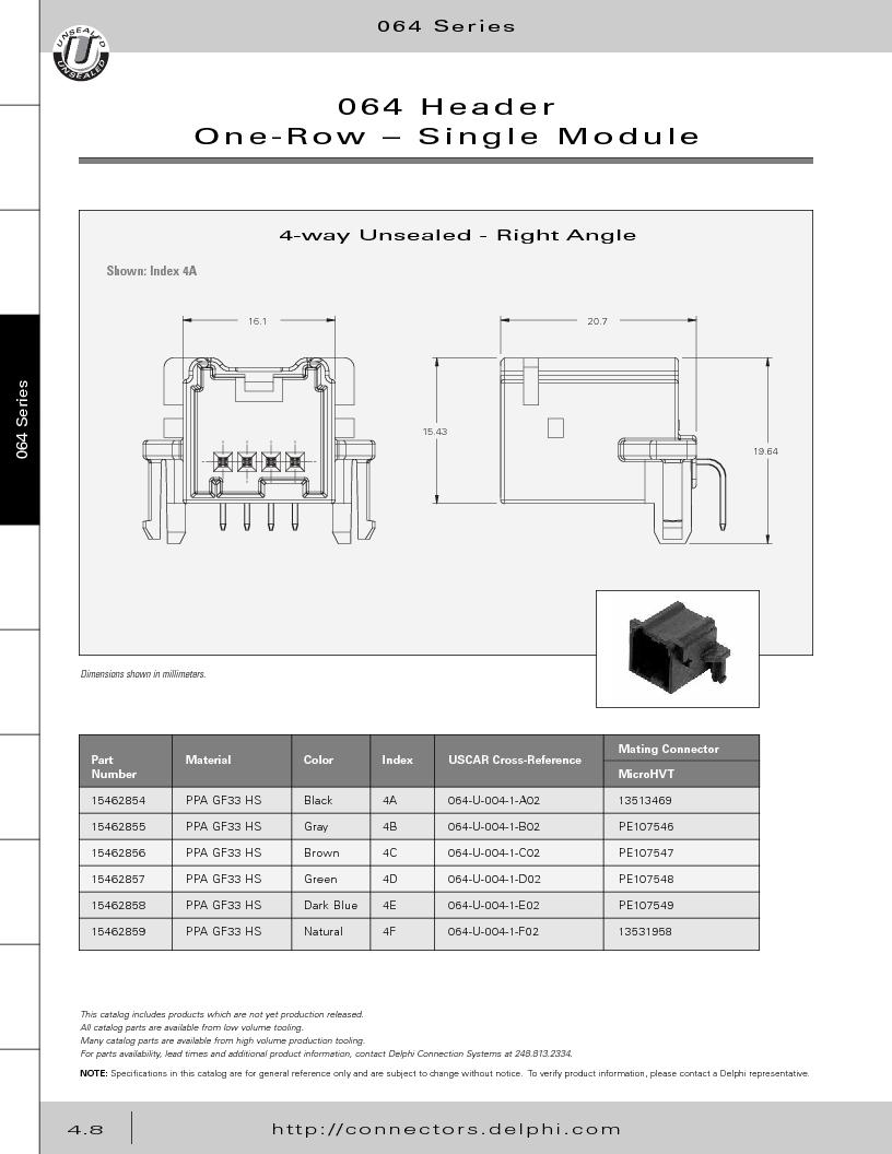 12014254 ,Delphi Connection Systems厂商,Automotive Connectors HAND CRIMPER, 12014254 datasheet预览  第198页