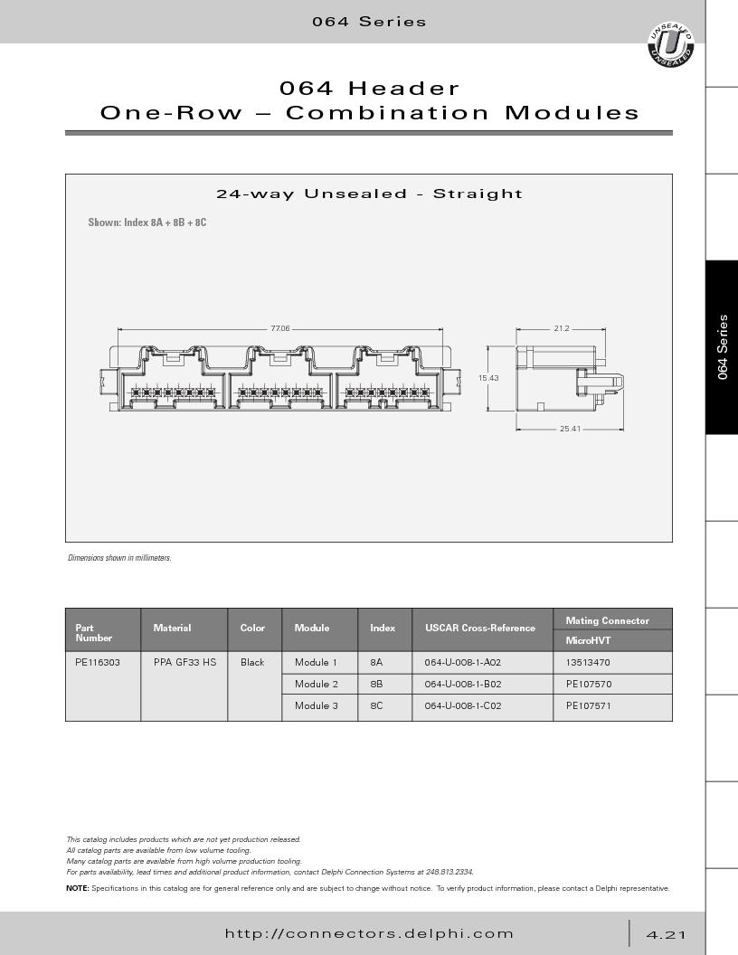 12014254 ,Delphi Connection Systems厂商,Automotive Connectors HAND CRIMPER, 12014254 datasheet预览  第211页