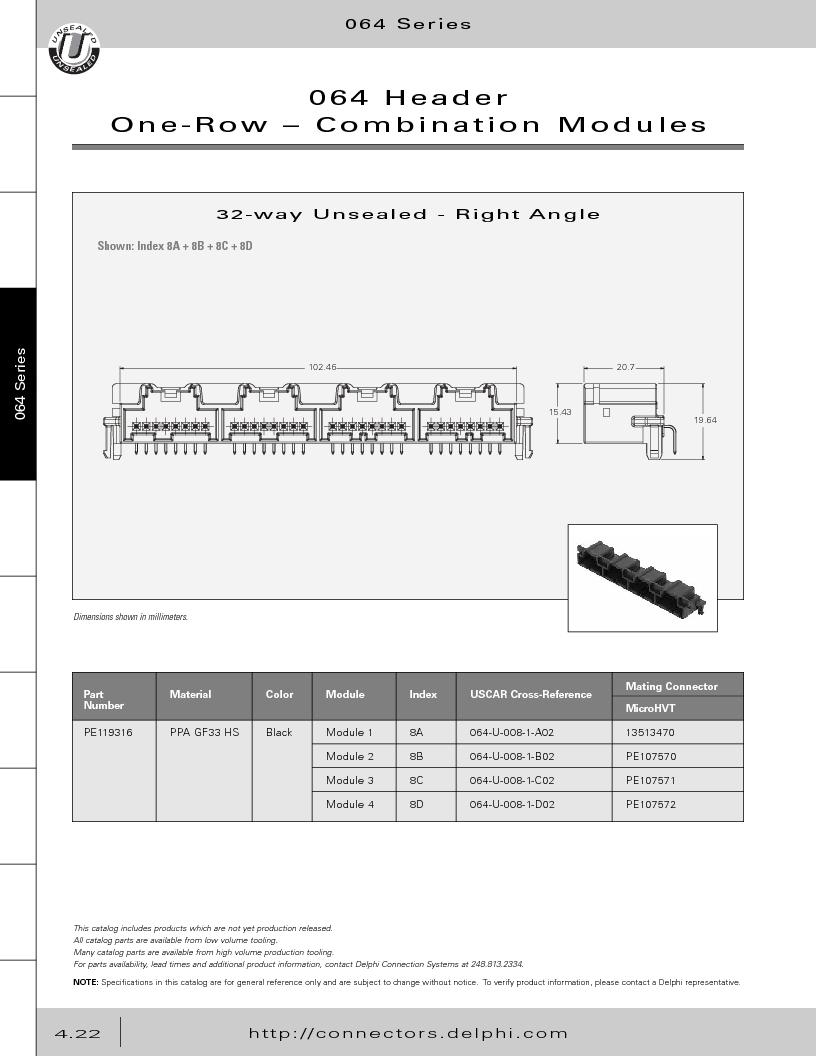 12014254 ,Delphi Connection Systems厂商,Automotive Connectors HAND CRIMPER, 12014254 datasheet预览  第212页