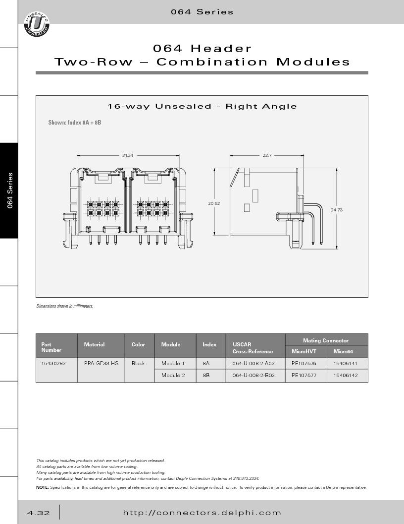 12014254 ,Delphi Connection Systems厂商,Automotive Connectors HAND CRIMPER, 12014254 datasheet预览  第222页