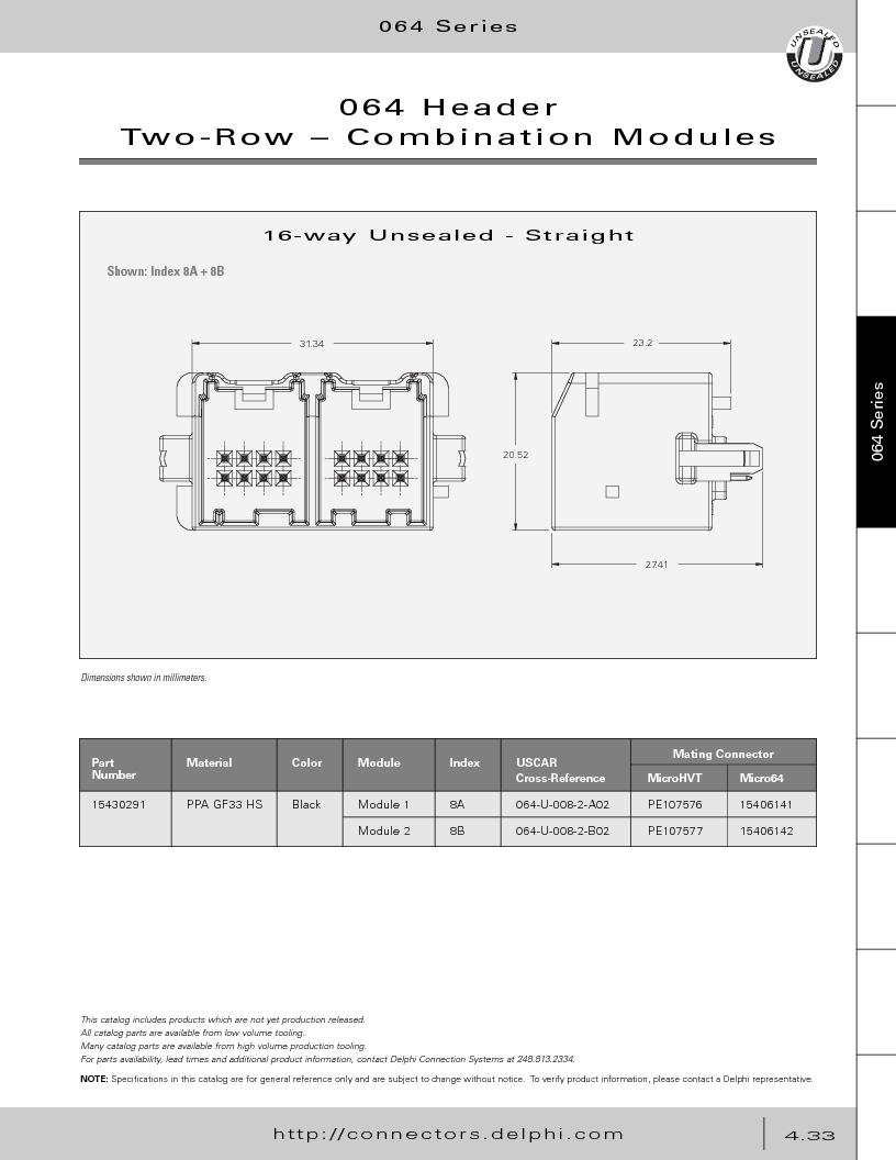 12014254 ,Delphi Connection Systems厂商,Automotive Connectors HAND CRIMPER, 12014254 datasheet预览  第223页