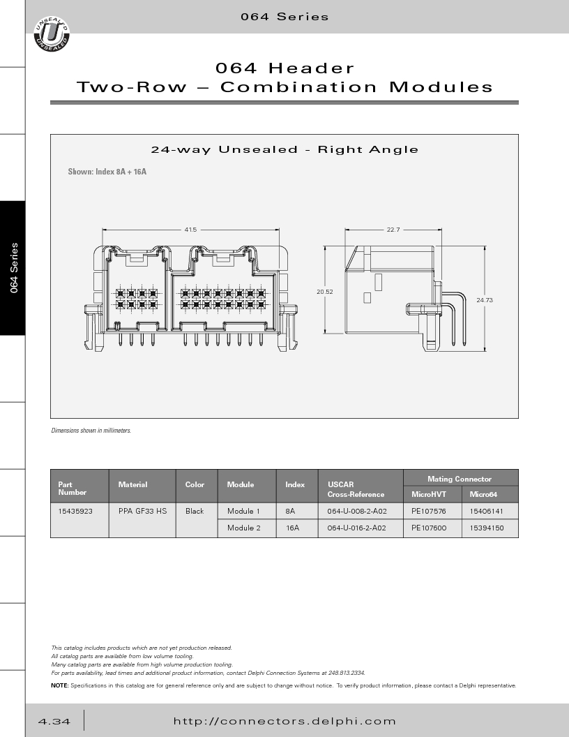 12014254 ,Delphi Connection Systems厂商,Automotive Connectors HAND CRIMPER, 12014254 datasheet预览  第224页