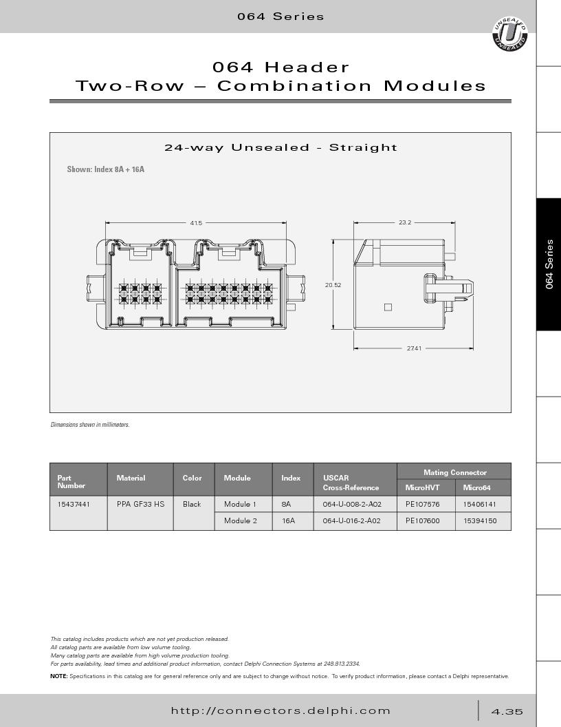 12014254 ,Delphi Connection Systems厂商,Automotive Connectors HAND CRIMPER, 12014254 datasheet预览  第225页