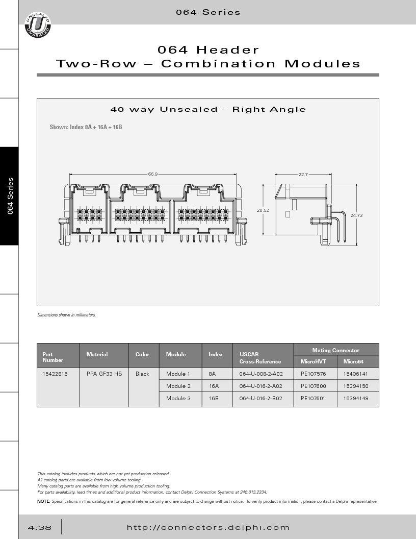12014254 ,Delphi Connection Systems厂商,Automotive Connectors HAND CRIMPER, 12014254 datasheet预览  第228页