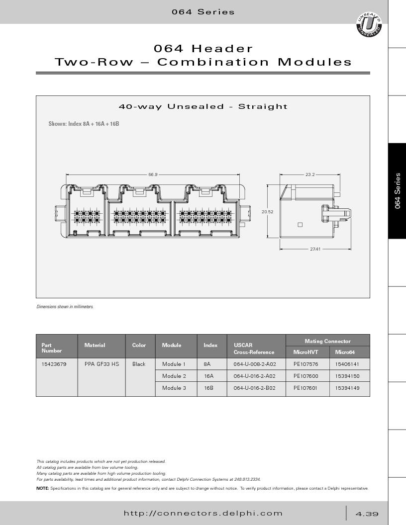 12014254 ,Delphi Connection Systems厂商,Automotive Connectors HAND CRIMPER, 12014254 datasheet预览  第229页