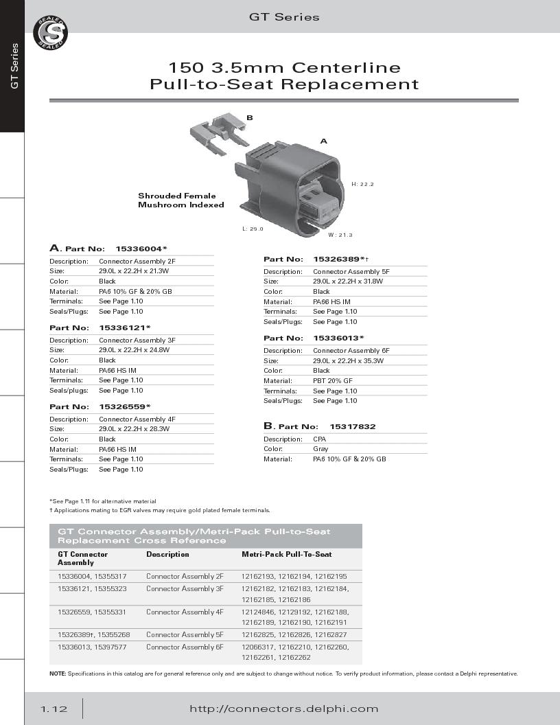 12014254 ,Delphi Connection Systems厂商,Automotive Connectors HAND CRIMPER, 12014254 datasheet预览  第24页