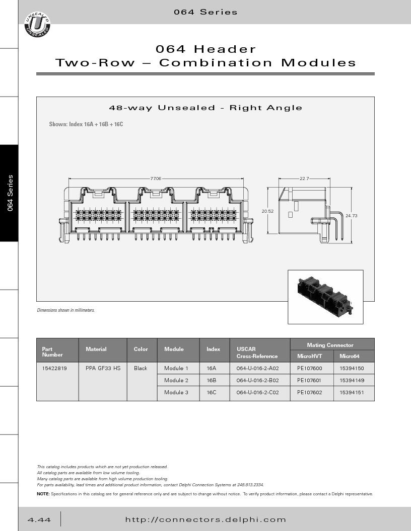 12014254 ,Delphi Connection Systems厂商,Automotive Connectors HAND CRIMPER, 12014254 datasheet预览  第234页