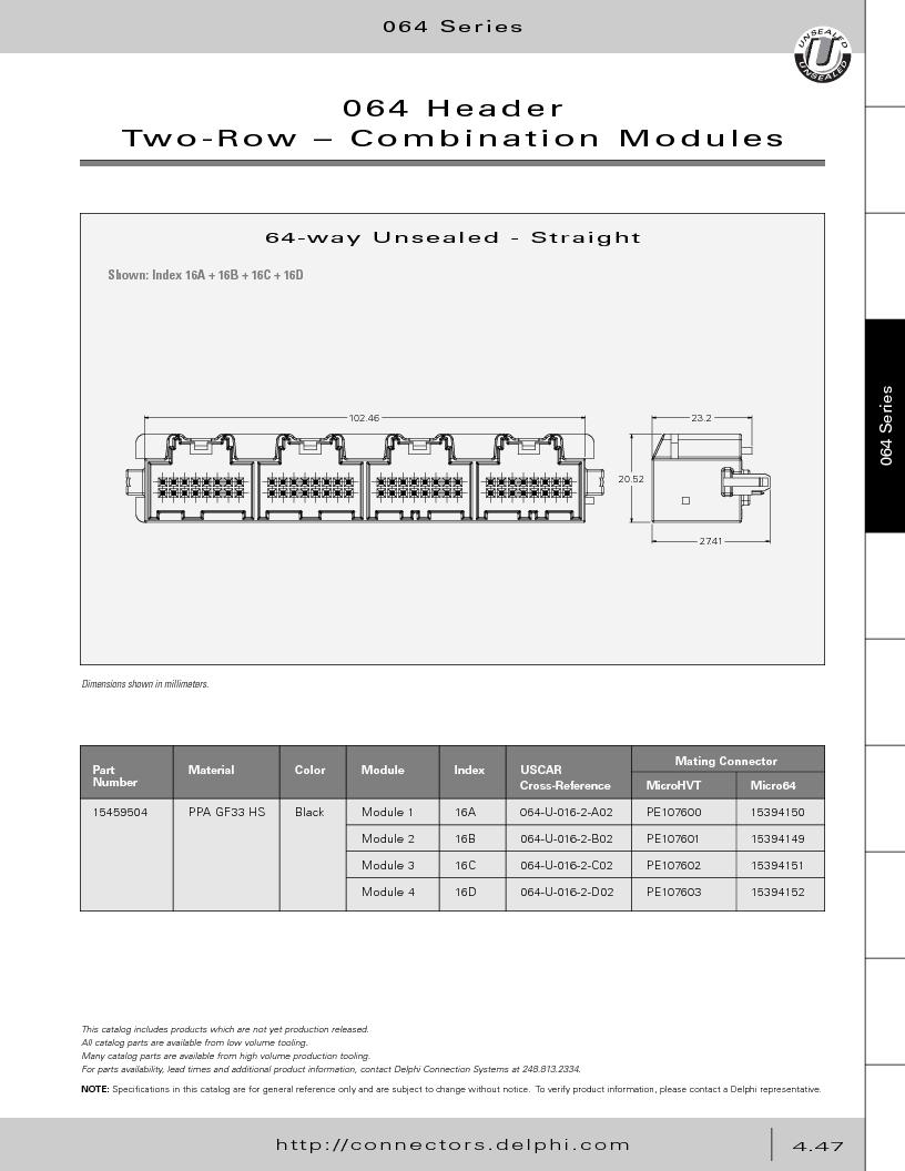 12014254 ,Delphi Connection Systems厂商,Automotive Connectors HAND CRIMPER, 12014254 datasheet预览  第237页