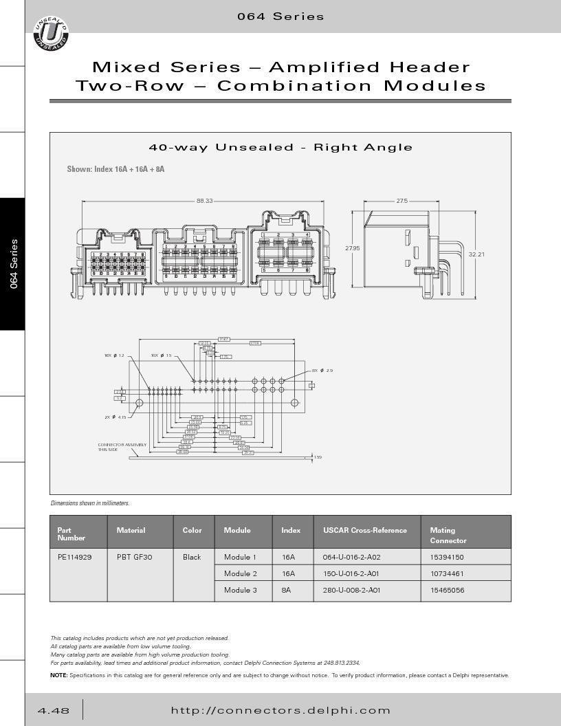 12014254 ,Delphi Connection Systems厂商,Automotive Connectors HAND CRIMPER, 12014254 datasheet预览  第238页