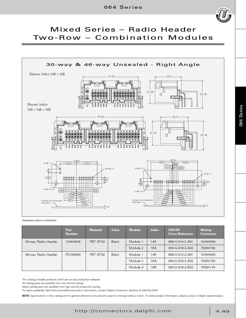 12014254 ,Delphi Connection Systems厂商,Automotive Connectors HAND CRIMPER, 12014254 datasheet预览  第239页