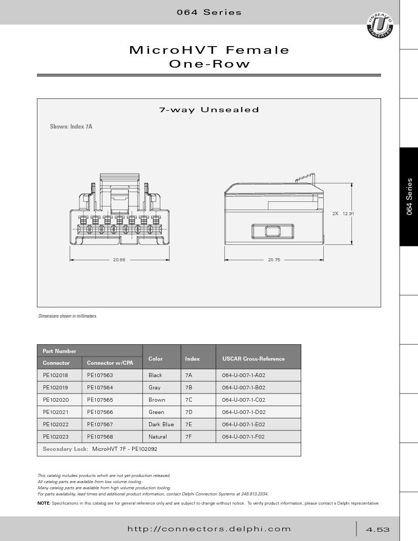 12014254 ,Delphi Connection Systems厂商,Automotive Connectors HAND CRIMPER, 12014254 datasheet预览  第243页