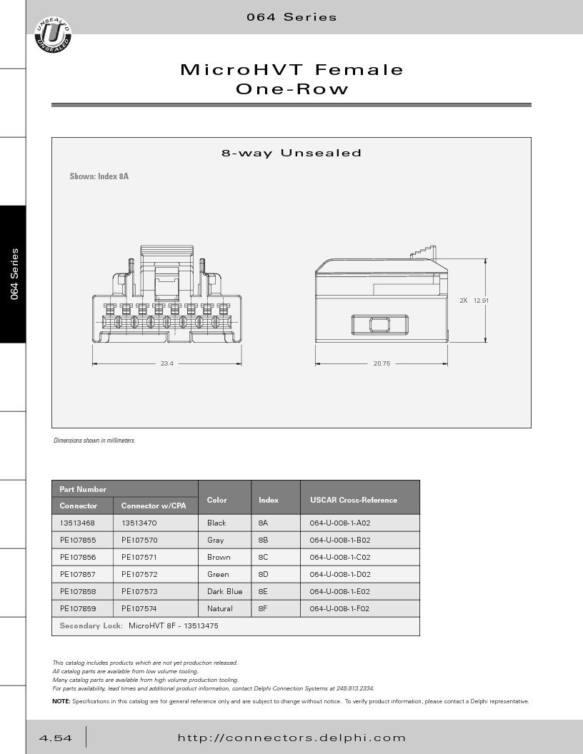 12014254 ,Delphi Connection Systems厂商,Automotive Connectors HAND CRIMPER, 12014254 datasheet预览  第244页
