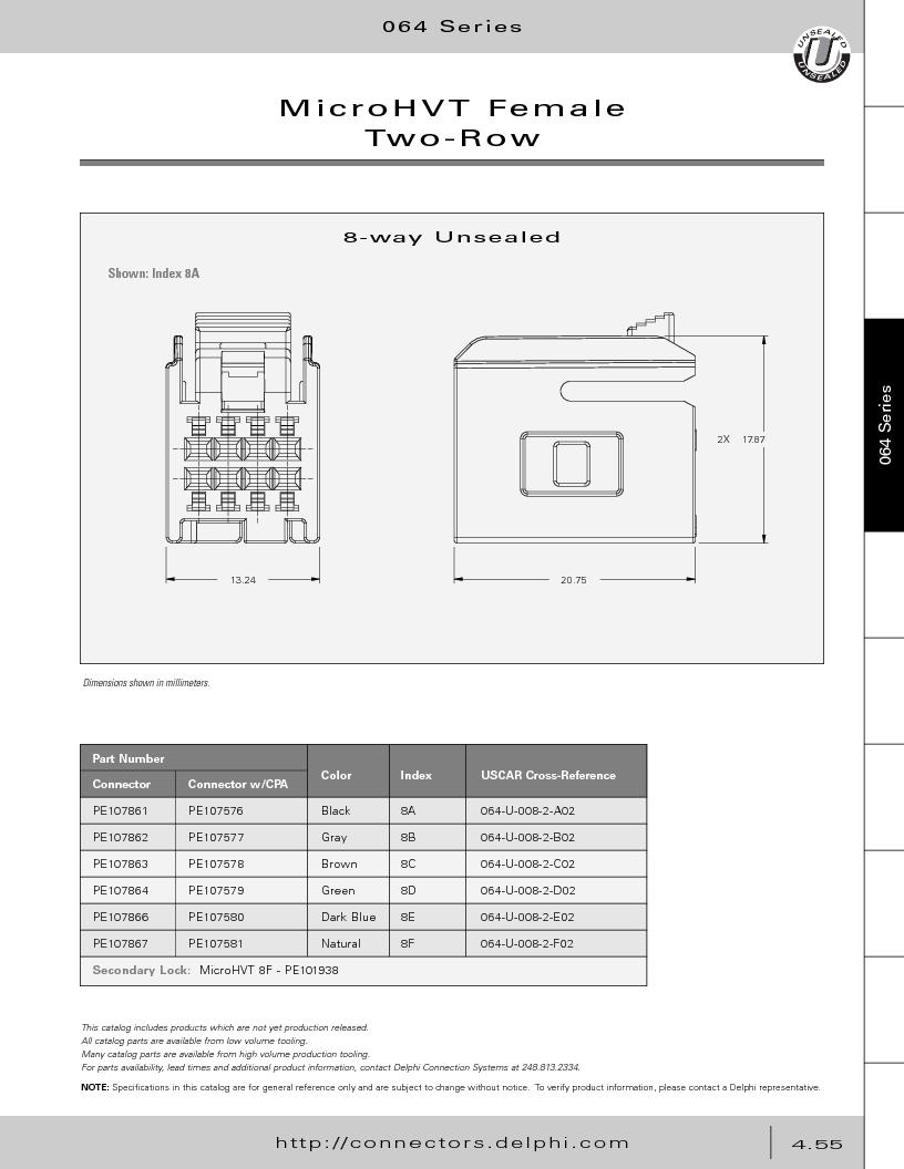 12014254 ,Delphi Connection Systems厂商,Automotive Connectors HAND CRIMPER, 12014254 datasheet预览  第245页