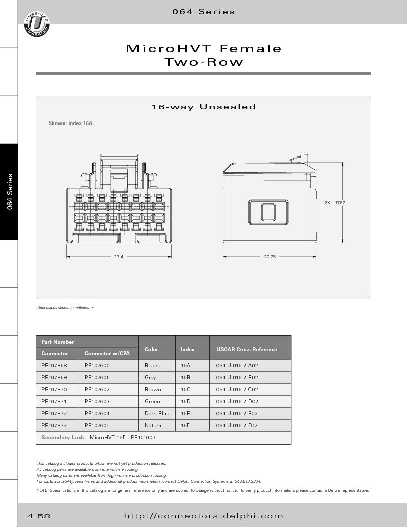 12014254 ,Delphi Connection Systems厂商,Automotive Connectors HAND CRIMPER, 12014254 datasheet预览  第248页