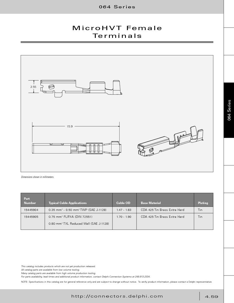 12014254 ,Delphi Connection Systems厂商,Automotive Connectors HAND CRIMPER, 12014254 datasheet预览  第249页