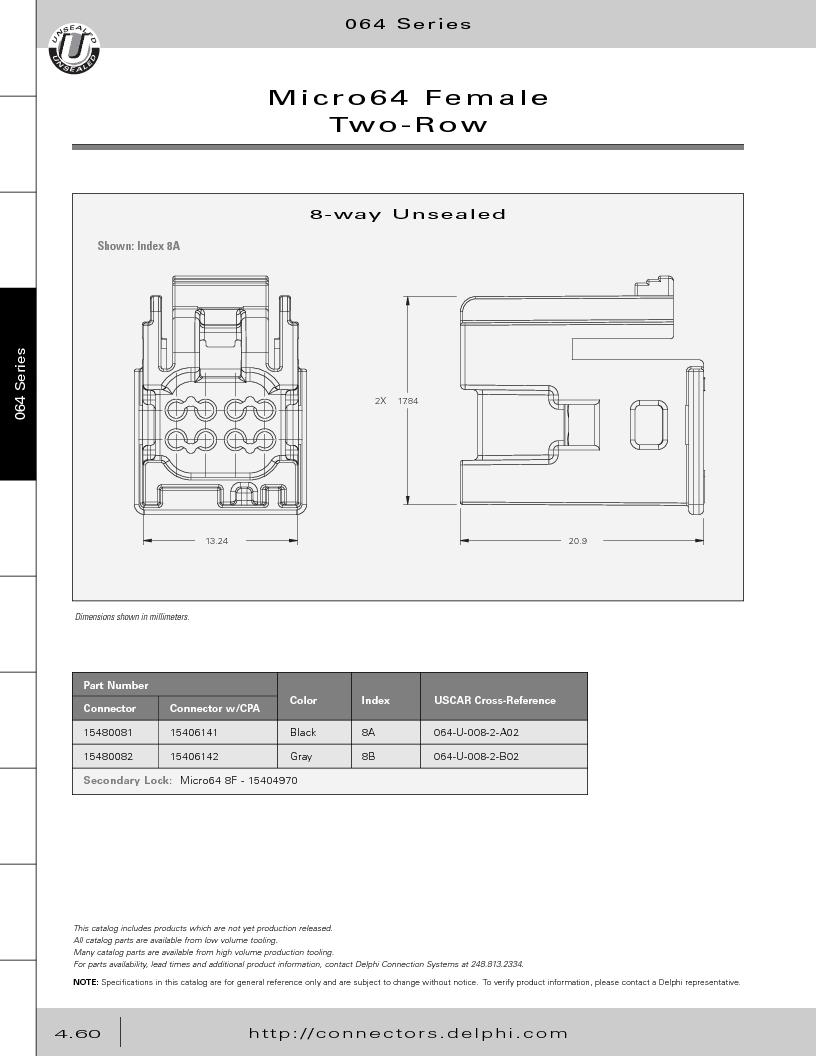 12014254 ,Delphi Connection Systems厂商,Automotive Connectors HAND CRIMPER, 12014254 datasheet预览  第250页