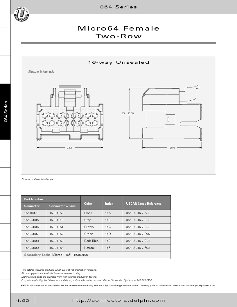 12014254 ,Delphi Connection Systems厂商,Automotive Connectors HAND CRIMPER, 12014254 datasheet预览  第252页