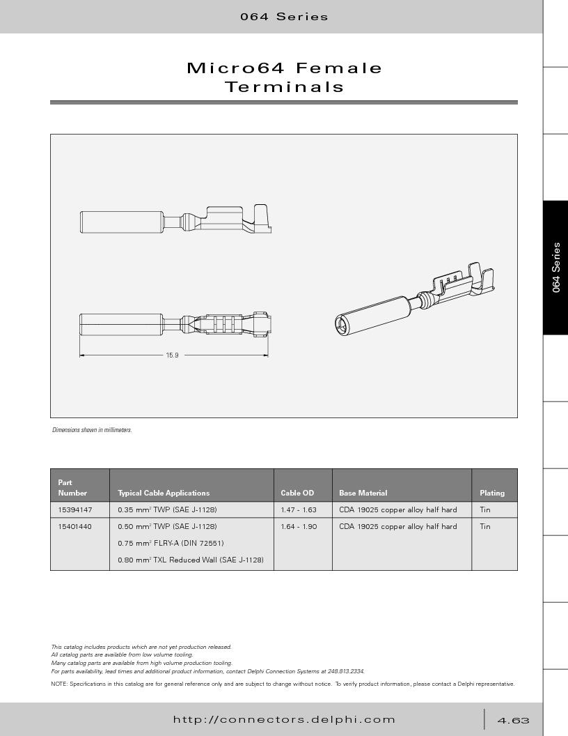 12014254 ,Delphi Connection Systems厂商,Automotive Connectors HAND CRIMPER, 12014254 datasheet预览  第253页