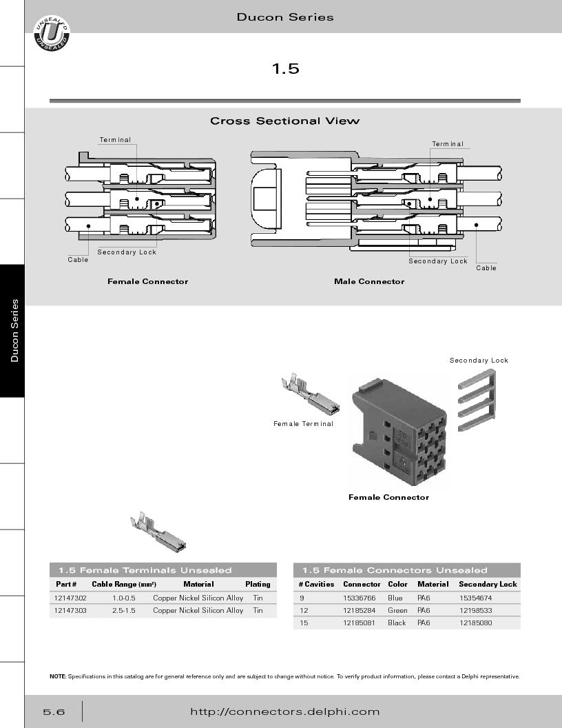 12014254 ,Delphi Connection Systems厂商,Automotive Connectors HAND CRIMPER, 12014254 datasheet预览  第260页