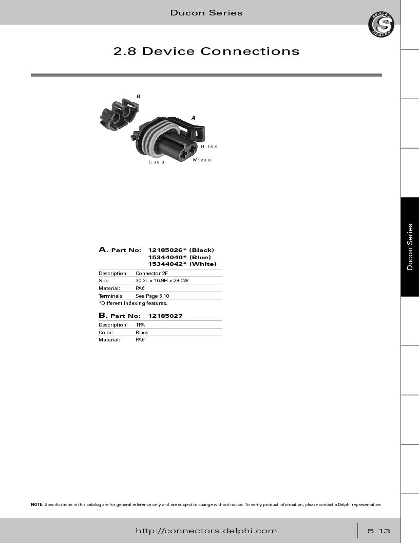 12014254 ,Delphi Connection Systems厂商,Automotive Connectors HAND CRIMPER, 12014254 datasheet预览  第267页