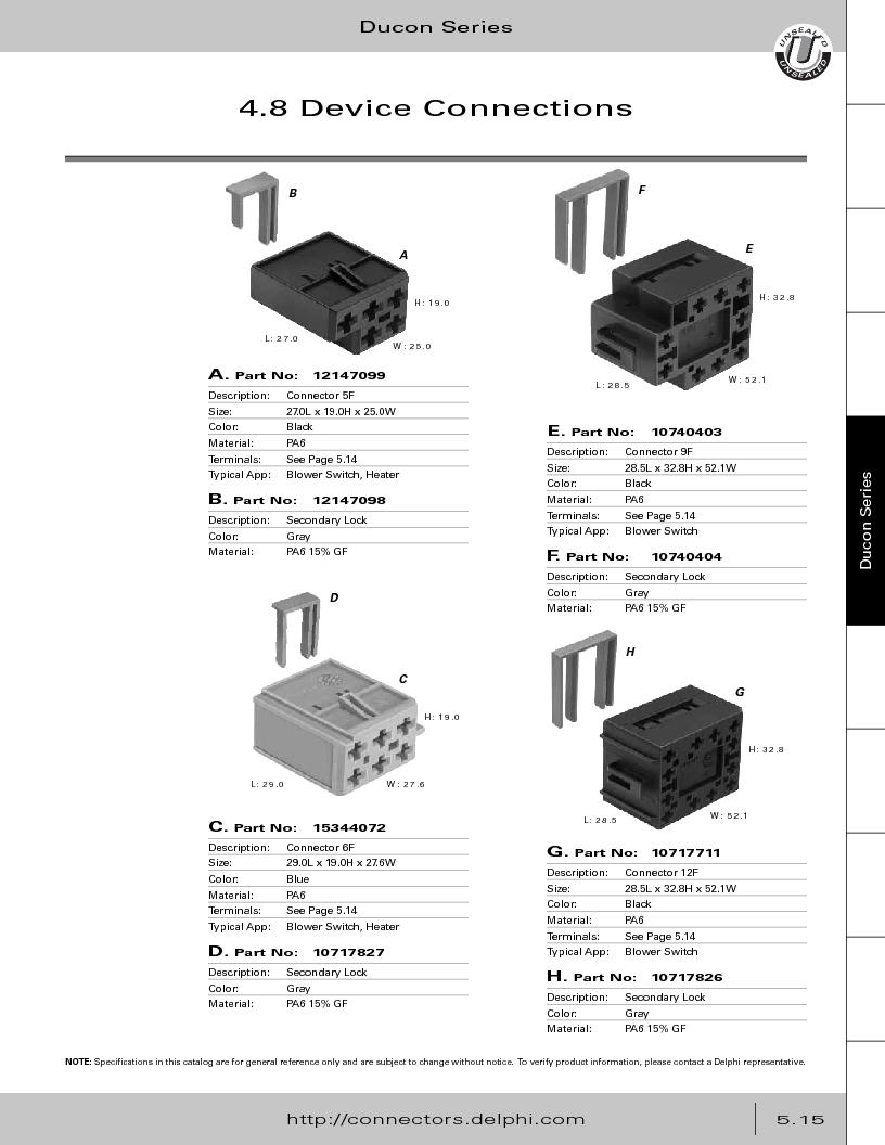 12014254 ,Delphi Connection Systems厂商,Automotive Connectors HAND CRIMPER, 12014254 datasheet预览  第269页