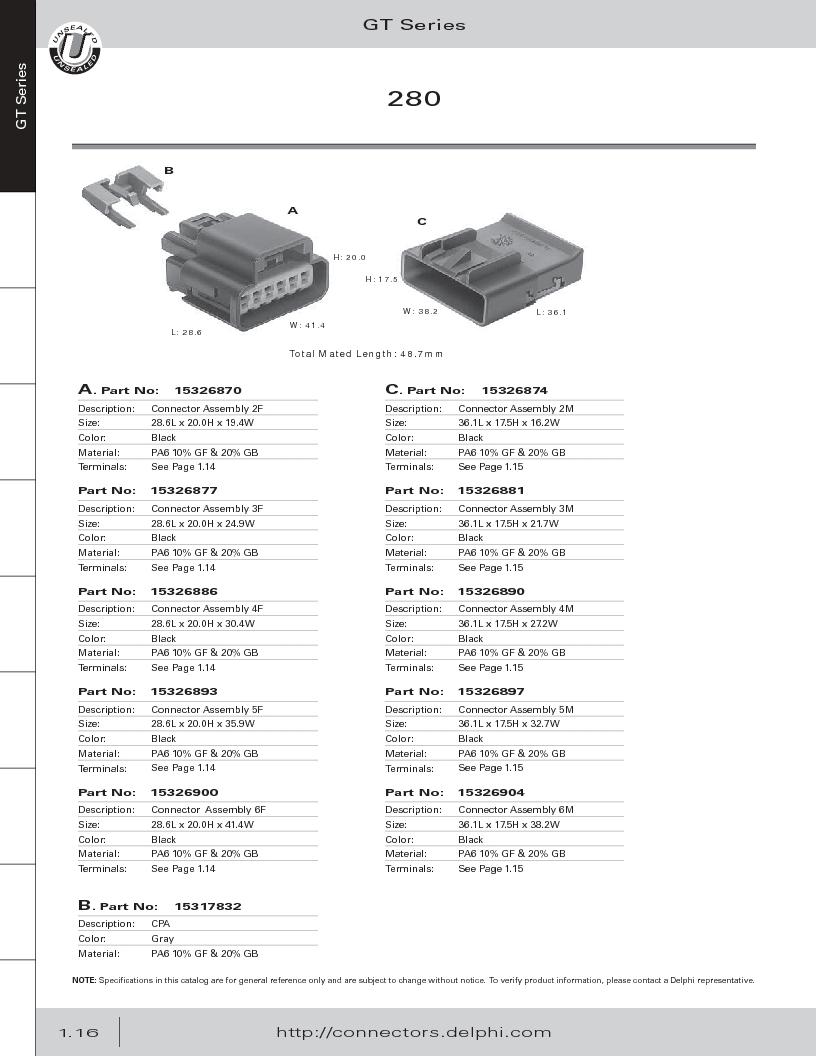 12014254 ,Delphi Connection Systems厂商,Automotive Connectors HAND CRIMPER, 12014254 datasheet预览  第28页