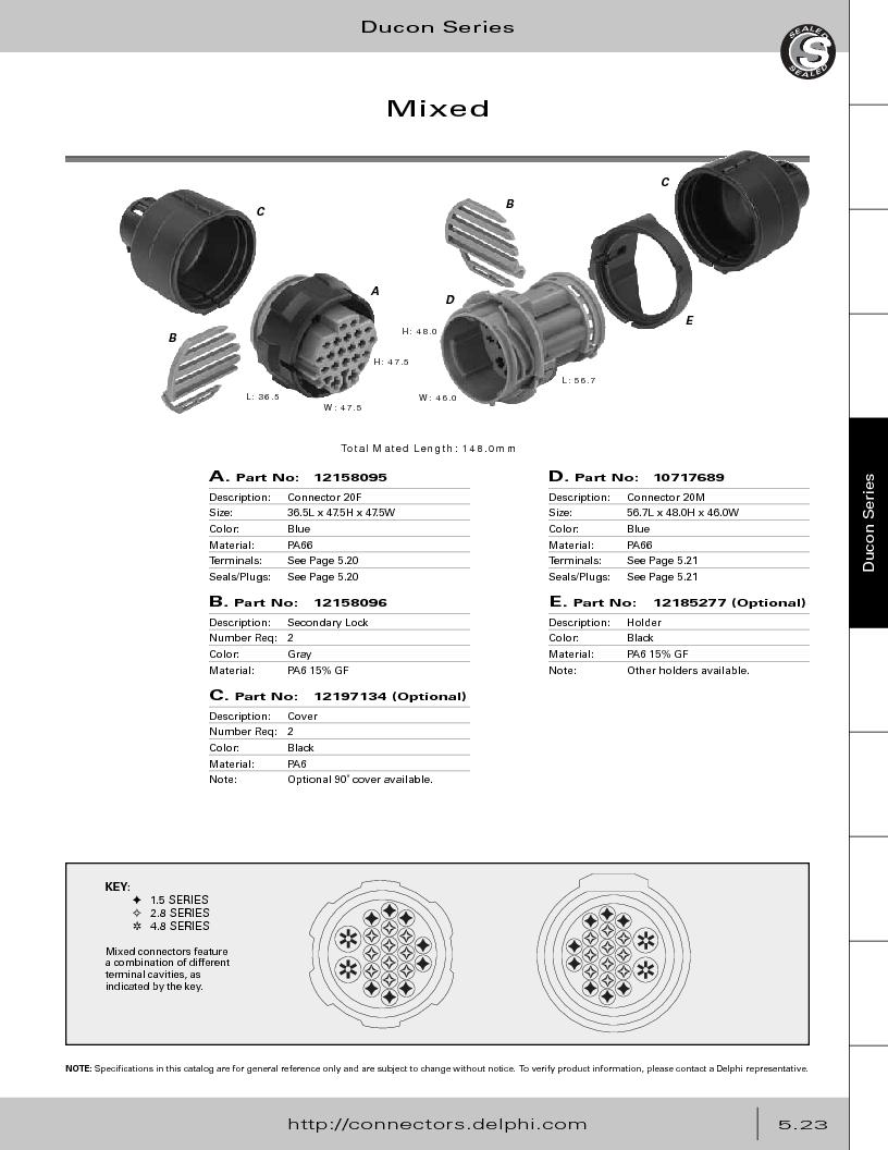 12014254 ,Delphi Connection Systems厂商,Automotive Connectors HAND CRIMPER, 12014254 datasheet预览  第277页