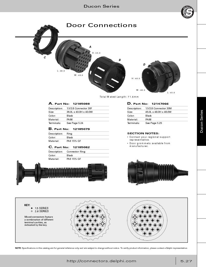 12014254 ,Delphi Connection Systems厂商,Automotive Connectors HAND CRIMPER, 12014254 datasheet预览  第281页