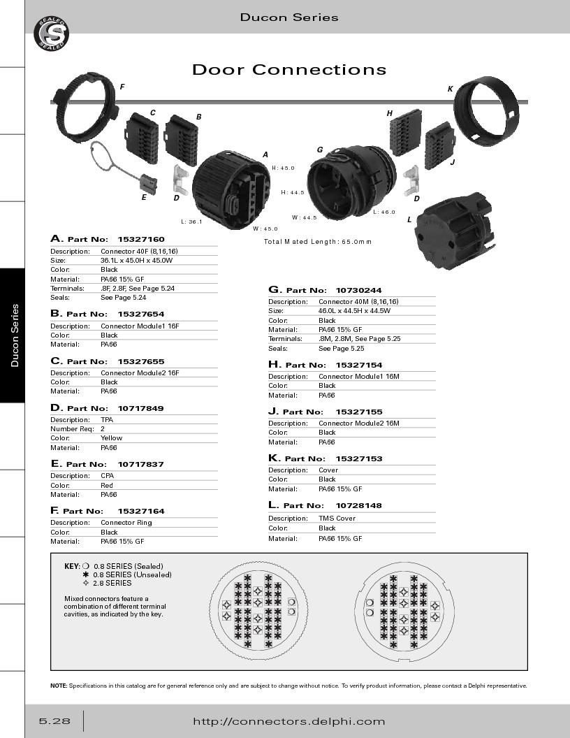 12014254 ,Delphi Connection Systems厂商,Automotive Connectors HAND CRIMPER, 12014254 datasheet预览  第282页