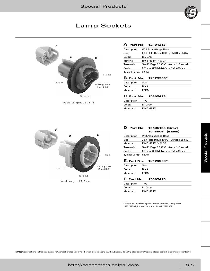 12014254 ,Delphi Connection Systems厂商,Automotive Connectors HAND CRIMPER, 12014254 datasheet预览  第287页