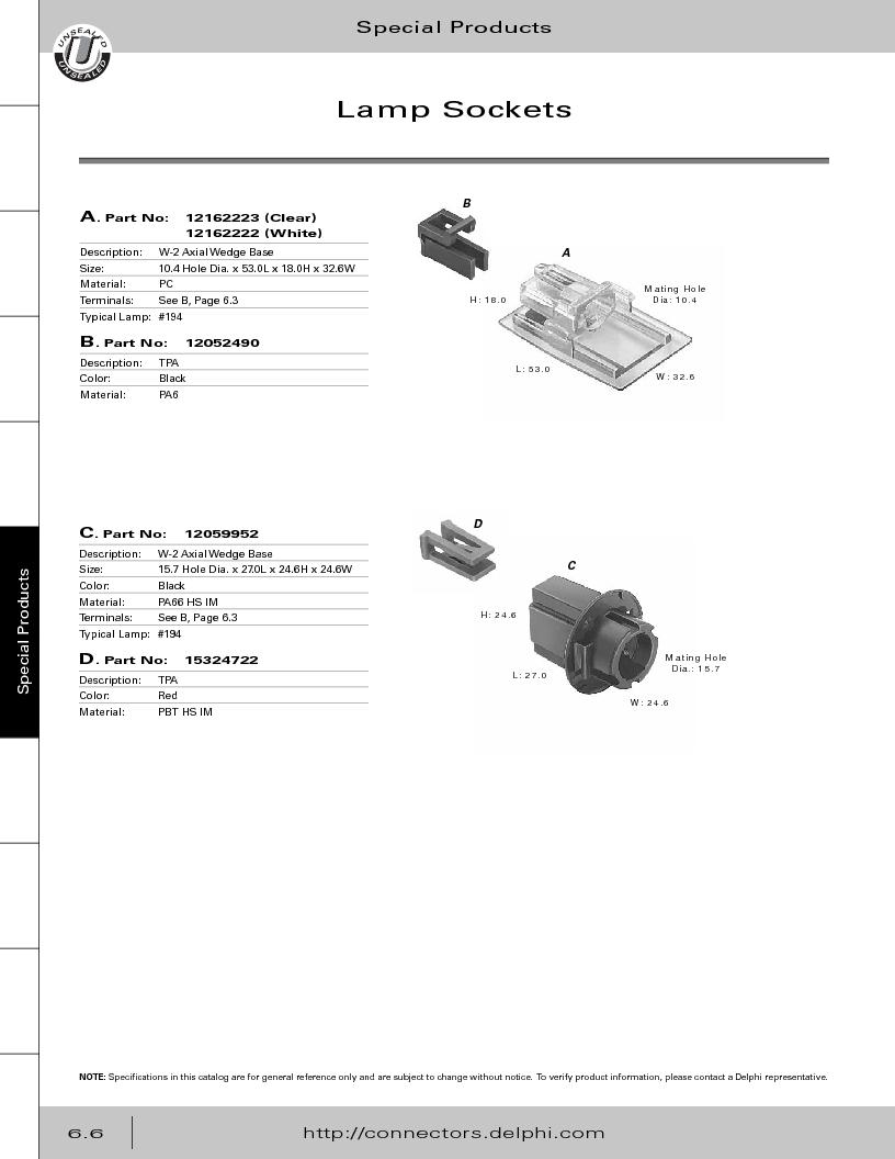 12014254 ,Delphi Connection Systems厂商,Automotive Connectors HAND CRIMPER, 12014254 datasheet预览  第288页