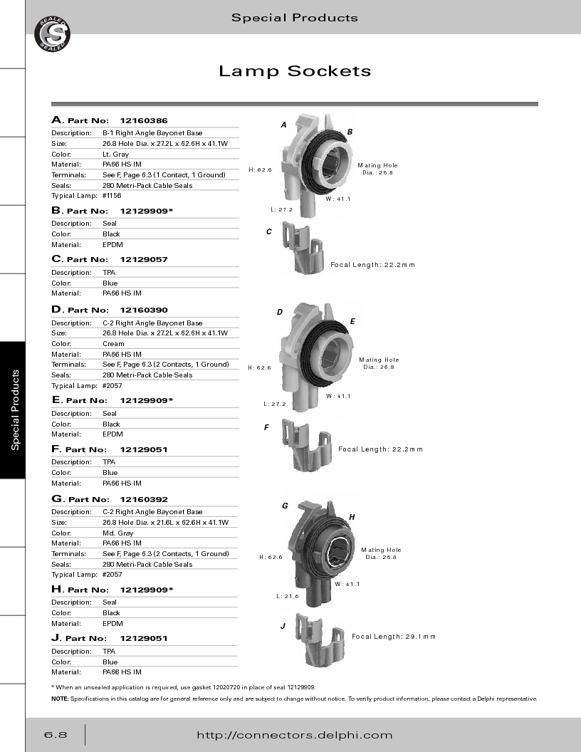 12014254 ,Delphi Connection Systems厂商,Automotive Connectors HAND CRIMPER, 12014254 datasheet预览  第290页