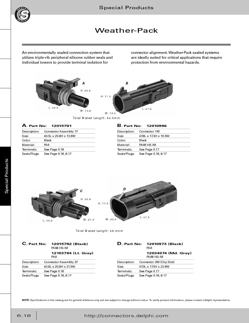 12014254 ,Delphi Connection Systems厂商,Automotive Connectors HAND CRIMPER, 12014254 datasheet预览  第300页